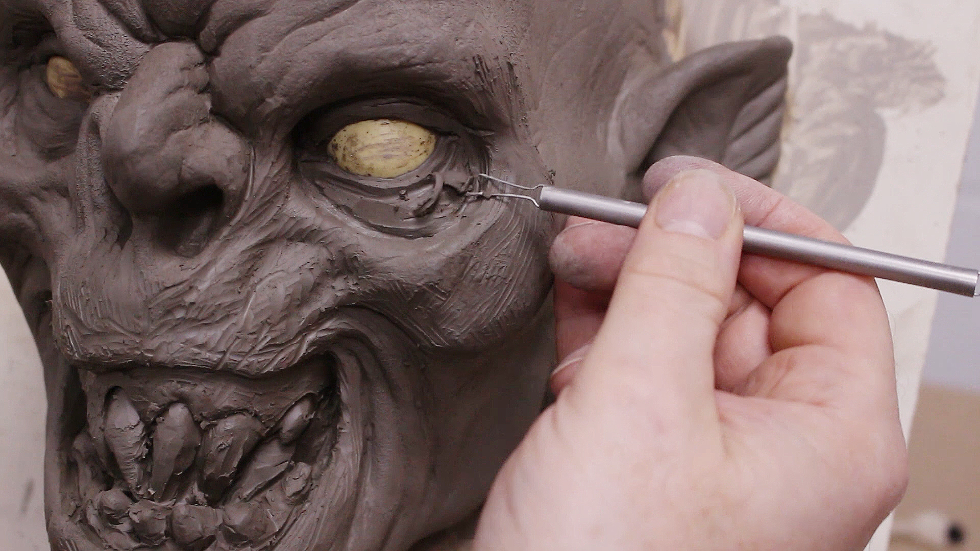 Sculpting-a-Half-Mask-in-Pottery-Clay-Large-Thumb